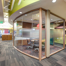 DIRTT glass meeting space in Utah office