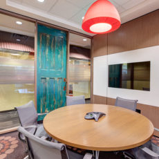 Small meeting room with Setu chairs in Utah office