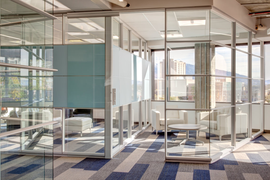 Private glass offices by DIRTT for Utah office