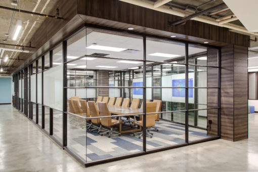 Glass conference room for modern tech company in Utah