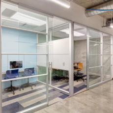 Glass walls for meeting rooms in Utah tech company office