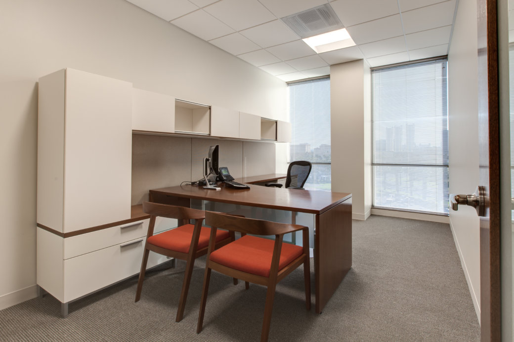 Private office casegoods and furniture for Las Vegas office