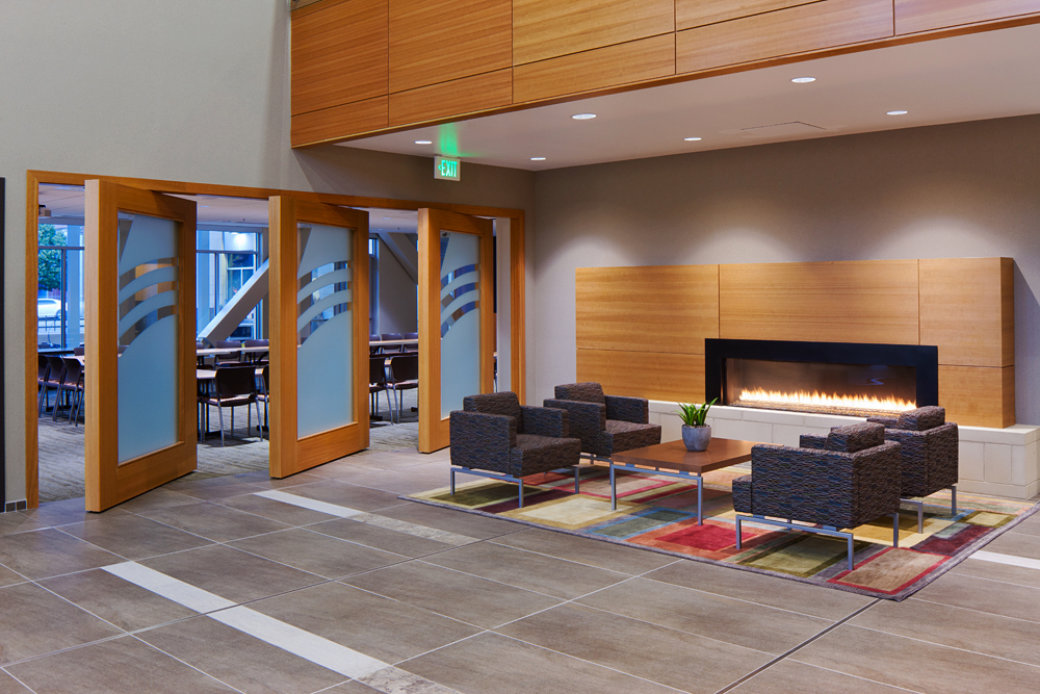 Cozy lounge furniture in Salt Lake City office space