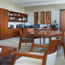 Wood private office furniture in Salt Lake City office Thumbnail