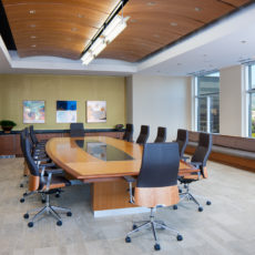 Spacious conference room with wood furniture in Salt Lake City office Thumbnail
