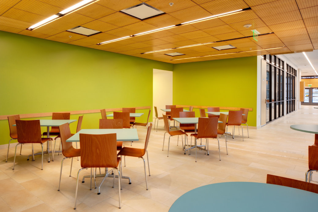 Cafe furniture for higher education at Utah State University