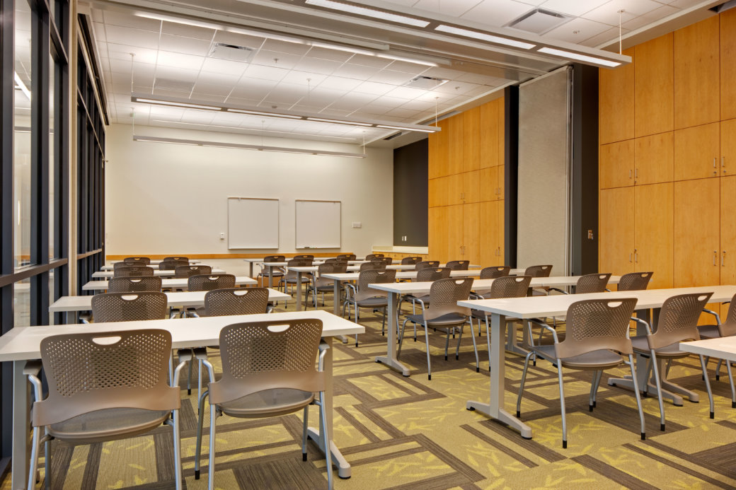 Classroom furniture for higher education at Utah State University