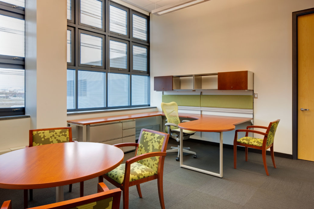 Private office furniture for higher education at Utah State University