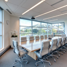 Sleek conference room furniture for Wasatch Advisors office in Utah Thumbnail