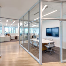 Modern glass office and conference room in Utah office