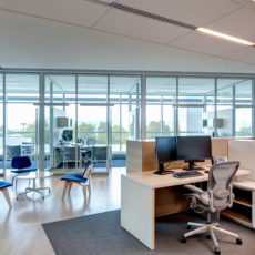 Modern workstation and Aeron chairs for Utah office Thumbnail