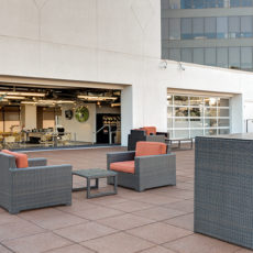 Modern outdoor furniture for Las Vegas Zappos office